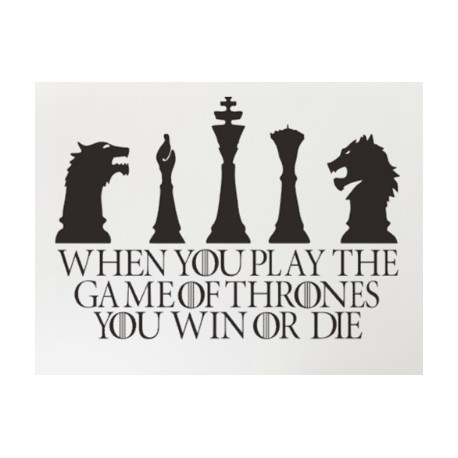 Stickers Jeux d'échec Game of Thrones