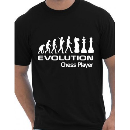 T Shirt evolution chess player