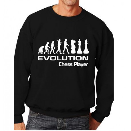 sweatshirt évolution chess player