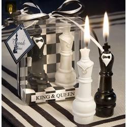 bougie reine et roi