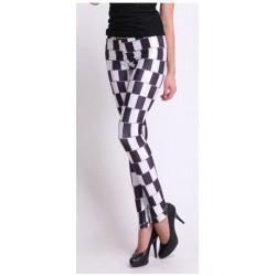 Legging damier noir et blanc